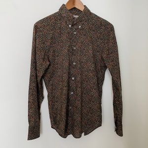 Naked & Famous floral button down shirt